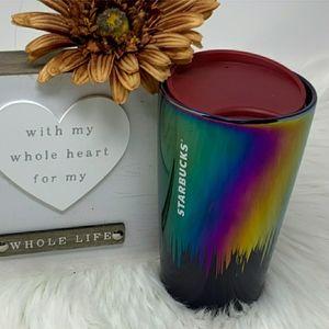 Starbucks Black & Iridescent Ceramic Travel Mug